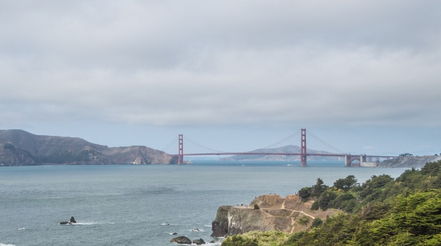 View of the Golden Gate Bridge from the Lands End Trail