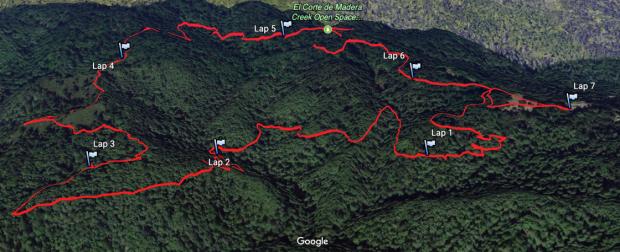 Google Earth Image of El Corte de Madera Preserve
